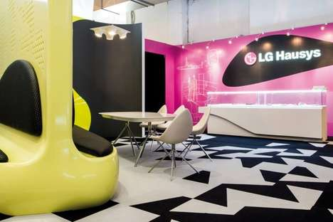 Colorfully Curved Seating Arrangements - The Sparkle Krib by Karim Rashid was Featured in Milan