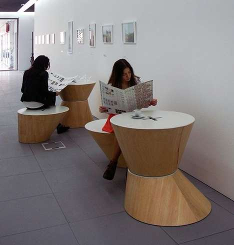Cone-Inspired Seating - 4 Cones by Nuno Capa Adapts to the Needs of Users