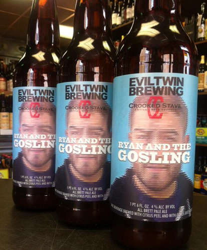Celebrity Face Brew Branding - Ryan and the Gosling is the Name of One of the Hottest Beers Out