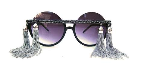 Futuristic Tassel Shades - These Gasoline Glamour Sunglasses Will Make Sure You Own at Life