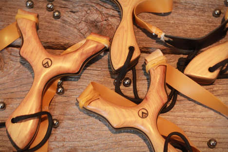 Handcrafted Modern Slingshots - This Wooden Slingshot Brings High Class Style to the Old School Toy