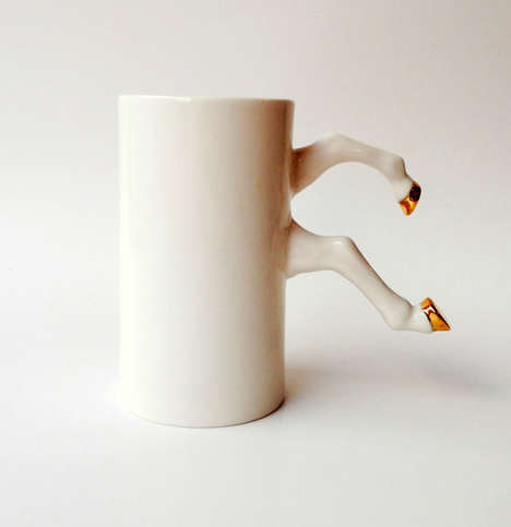 Equestrian-Handled Mugs - These Animal Mugs Creatively Substitute a Handle for a Pair of Horse Legs