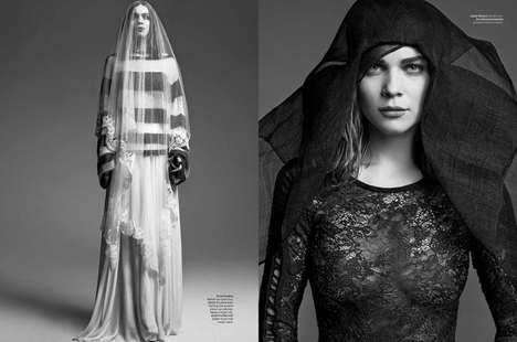 Witch-Inspired Boho Fashion - The L'Officiel Netherlands April-May 2014 Editorial Stars Kim Noorda