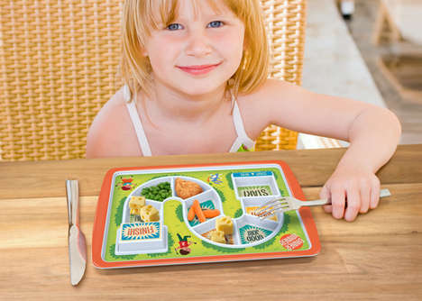 Board Game Dinner Plates - The Dinner Winner Kids Plate Gets Kids to Eat Everything on Their Plate