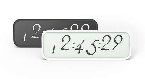 Cursive Digital Characters - The Script Clock Series Flaunts Beautiful Calligraphic Screen Numerals
