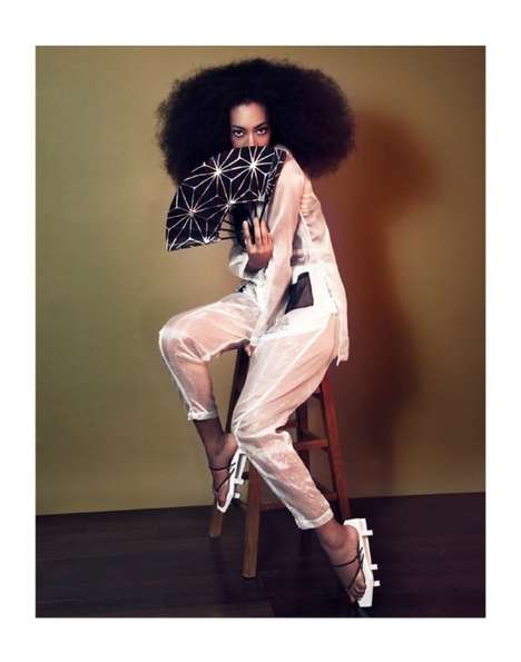 Japanese-Inspired Celeb Editorials - The Ground Magazine Issue 4 Photoshoot Stars Solange Knowles
