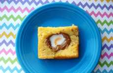 Breakfast-Inspired Easter Desserts - The Cadbury Creme Egg in Hole Toast Boasts Pound Cake