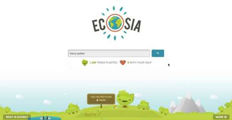 Tree-Planting Search Engines - Ecosia Donates Income Generated From Ads to a Brazilian Conservancy