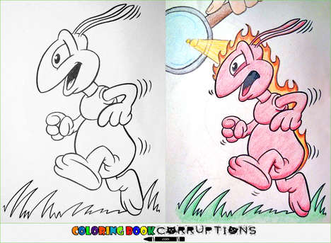 Nefarious Coloring Book Adaptations - These Corrupted Coloring Books Raise the Parental Rating