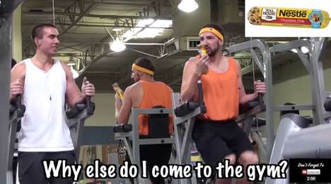 Fast Food Workouts - This Man Eats Junk Food During His Workout at the Gym