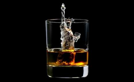 Intricate Ice Cube Art - TBWAHakuhodo Created the Ultimate Whisky Rocks that Look Like Figurines