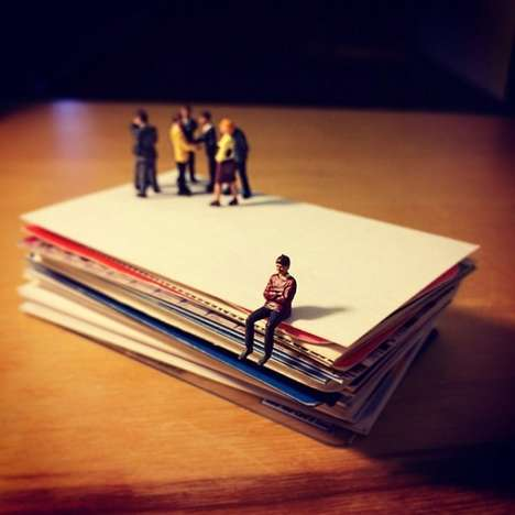 Satirically Small Office Recreations - Derrick Lin Depicts Ad Agency Life with Tiny Figurines