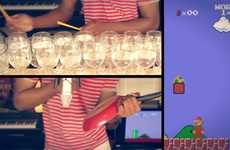 Dan Newbie Plays the Super Mario Bros. Theme Song on Glasses