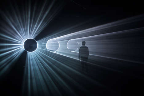 Immersive Laser Installations - MINI and United Visual Artists Team up to Create