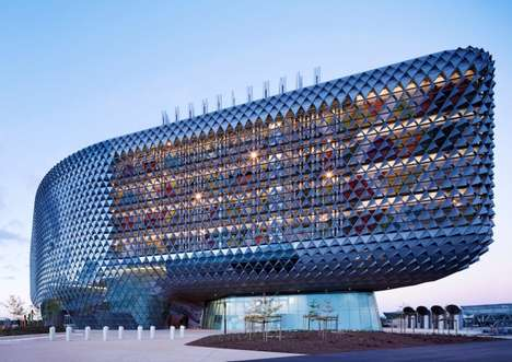 Perforated Edge Architecture - SAHMRI by Woods Bagot Looks Like a Living Organism