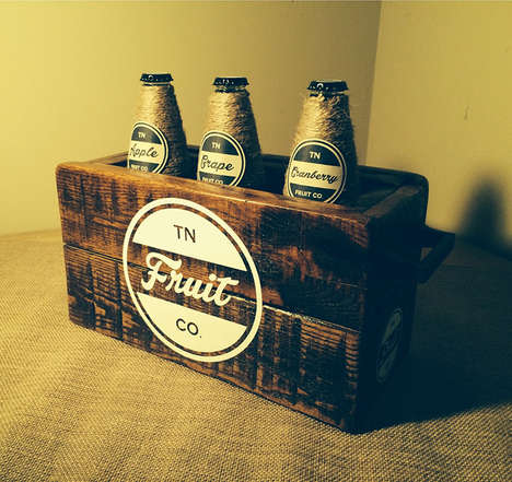 Retro Wood Packaging - Greg Ellis Gives an Industrial Feel to TN Fruit Co.