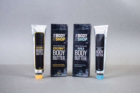 Industrial Beauty Product Packaging - Body Butter is Updated with a Manly Look by Jenelle Bremault