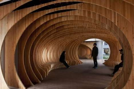 Whale-Shaped Halls - The Interior of 'Rest Hall' Looks Like the Inside of a Whale's Belly