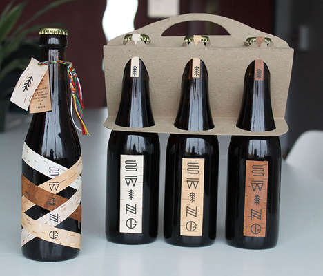 Cultural Heritage Beer Branding - Swing Microbrewery Celebrates Quebec's Rich History