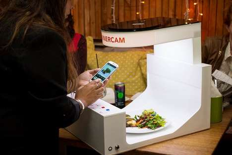 Instagram-Like Food Studios - Mweb's Dinnercam Takes Your Food Shots to the Next Level
