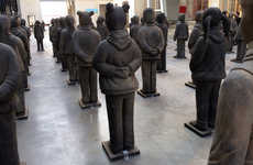 Lost Daughter Exhibitions - The Terracotta Army is an In-Situ Installation Featured at Centquatre