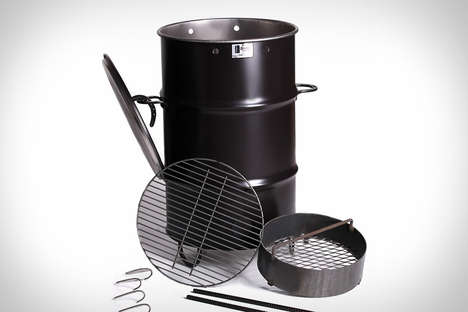 Garbage Can Barbecues - The Pit Barbecue from Pit Barrel Cooker Co. Resembles a Trash Can
