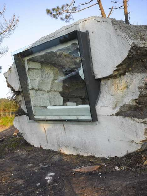 Stone Slab Vacation Homes - This Rock Home Brings New Meaning to Living Under a Rock