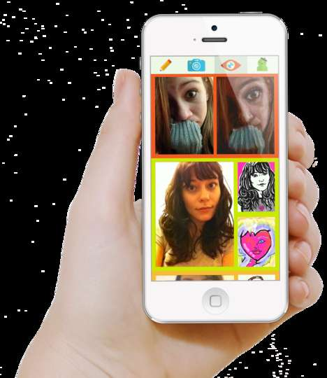 Crowdsourced Self Portraiture Apps - The French Girls App Lets Strangers Turn Your Selfies into Art