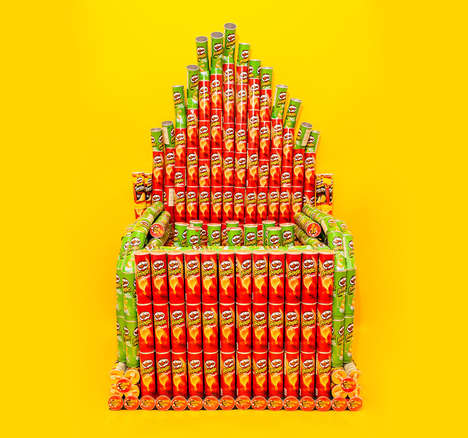 Chip-Based Musical Instruments - This Pipe Organ is Made Entirely from Cans of Pringle Chips