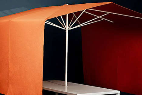 Privacy-Granting Conference Umbrellas - The Meeting Roofs by Goncalo Campos is Inspired by Fairs