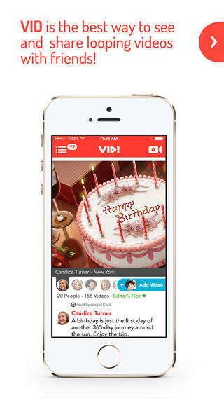 Video Compilation Apps - The Vid App Lets you Create Vine-Like Videos Using Facebook