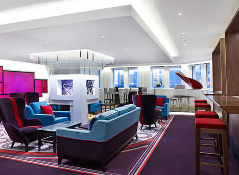 Airline-Themed City Lounges - The Virgin Money Lounge by Allen International Opens in London