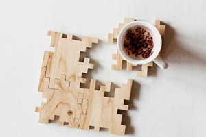 This Wood Coaster Also Doubles Up as a Puzzle