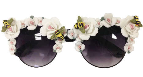 Designer Insect Eyewear - These Floral Sunglasses Will Get People Buzzing for Spring