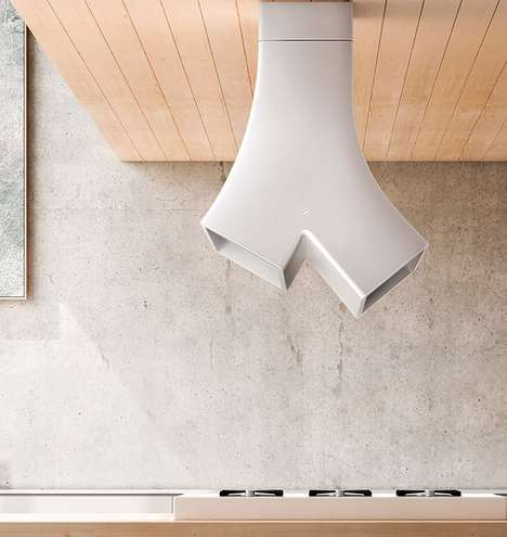Branching Stove Hoods - The YE Range Hood by Elica Has a Nature-Inspired Design