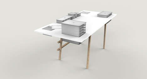 Cabinet-Equipped Tables - The Co-Worker Table by Tobias Lugmeier is Easily Moved Around the Room