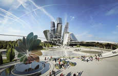 Coop Himmelb(l)au Pictures a Green City for the Astana 2017 Expo
