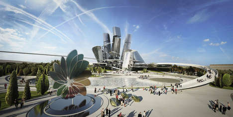 Energy-Focused City Concepts - Coop Himmelb(l)au Pictures a Green City for the Astana 2017 Expo