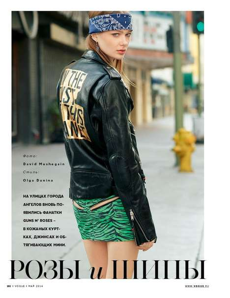 Tough Chic Editorials - The Vogue Russie
