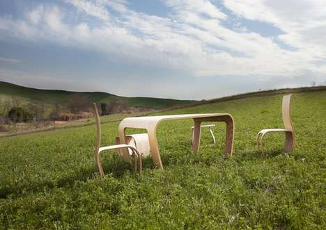 Naturalistic School Furniture - The Flowerssori Montessori Furniture Encourages Kids to Explore