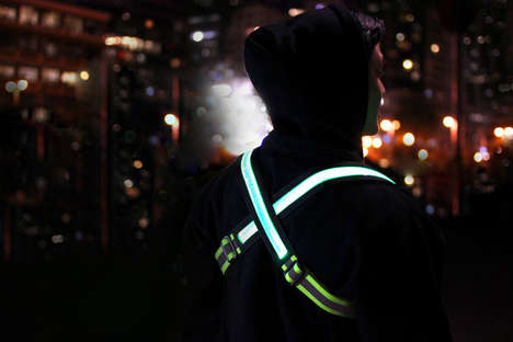Illuminated Safety Belts - The Halo Belt 2.0 is a Rechargeable High-Visibility Safety Belt