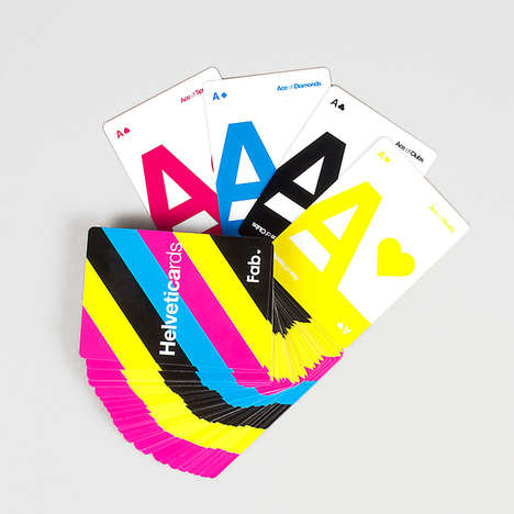 Typographic Playing Cards - These Playing Cards Pay Homage to the Famous Helvetica Font