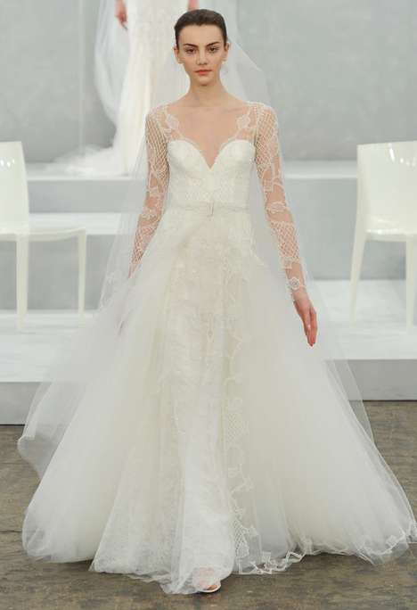 Ethereally Romantic Wedding Gowns - The Monique Lhuillier 2015 Bridal Collection Channels Daydreams