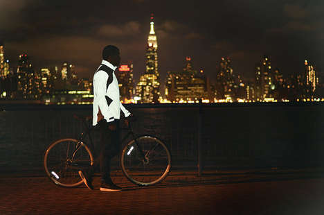 TRON-Inspired Cyclist Coats - The RA Reflective Jacket by Elton King is Stylish and Affordable