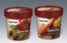 Vegetable-Flavored Ice Creams - The 'Spoon Vege' Haagen Daz Ice Cream Features Carrots and Tomatoes