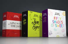 Literary Jam Branding - Gastromasterskaya's Jam Jar Packaging Was Inspired by Popular Books