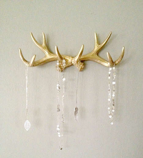 Taxidermy Jewelry Holders - This Antler Rack is a Great Jewelry Holder for Animal Lovers