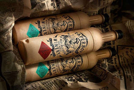 Paper Wine Bottles - These Cardboard Wine Bottles Take a More Eco-Friendly Design Route