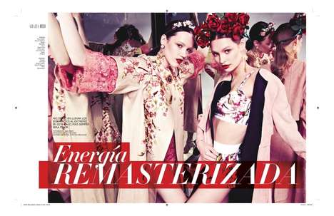 Eccentric Floral Editorials - This Editorial in the Grazia Mexico April 2014 Issue is Bold