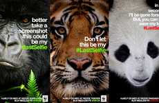 Disappearing Animal Campaigns - WWF Compares Endangered Animals to Vanishing Snapchat Photos